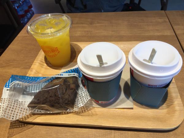 シアトルズベストコーヒー コーヒーとオレンジジュース